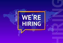 We Are Hiring Concept Square Banner Poster Flyer. Vector