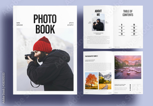 Simple Photographer Photobook Layout