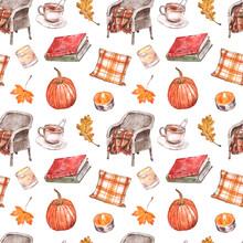 Fall Seamless Pattern With Wat...