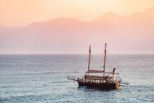 Tourist Ship Stylized As A Woo...