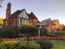 Historic Tudor Houses In Suburbs Of Queens Forest Hills New York