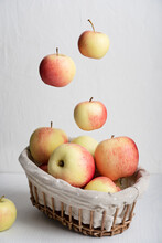 Wicker Basket Full Of Organic ...