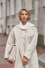 Stylish Elegant Girl In White ...