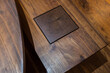 canvas print picture - wood joinery detail
