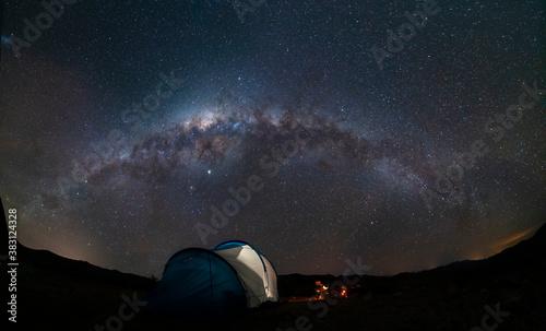 An amazing night sky at Atacama Desert Canvas Print