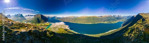 Rampestreken in Andalsnes, Norway. A famous tourist viewpoint Canvas