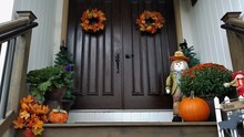Autumn And Fall Decorated Doub...
