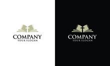 Christian Holy Book Vector Icon Logo Design Template