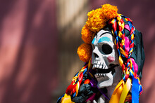 Day Of The Dead (Día De Muertos) Celebrations In Michoacán, Mexico.