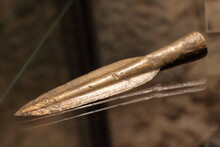 Bronze Spear Tip, End Of Bronze Age, Found In Italy