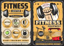 Fitness Center, Gym Retro Post...