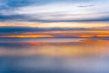 Sunset over sea - long exposure minimalist sunset with copy space - 383164344