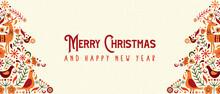 Christmas New Year Retro Folk ...