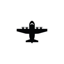 Military Transportation Aircraft Icon Vector Isolated On White, Logo Sign And Symbol.
