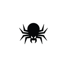 Spider Icon Vector Isolated On White, Logo Sign And Symbol.