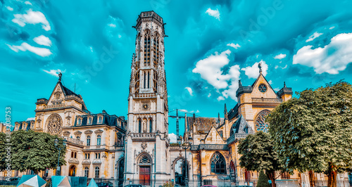 Photo Saint-Germain l'Auxerrois Church  is situated near Louvre
