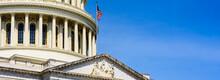 US Capitol Building With Blue Sky, Government Building, Washington DC, USA