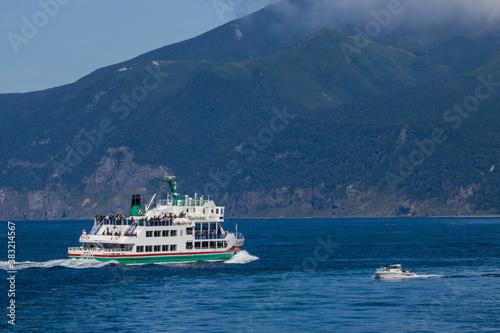 Fotografía 知床の船と海