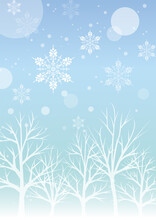冬の景色の背景イラス...