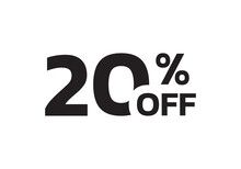 20 Percent Price Off Icon. Sal...
