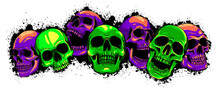 Vector Skull And Crossbones. Human Skulls And Bones With Shallow Depth Of Field