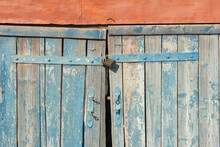 The Old Wooden Barn Doors Are ...
