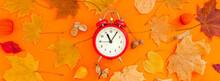 Autumn Postcard With Fall Leav...