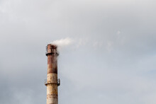 Industrial Chimney On The Back...