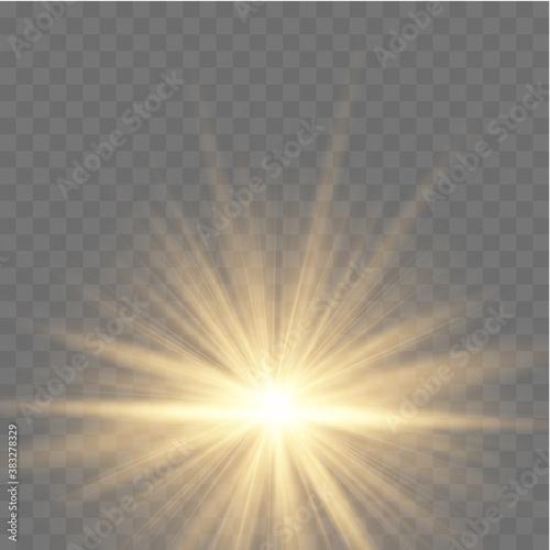 Fototapeta Yellow glowing star. obraz na płótnie