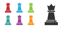 Black Chess Icon Isolated On W...