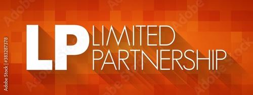 LP - Limited Partnership acronym, business concept background Canvas Print