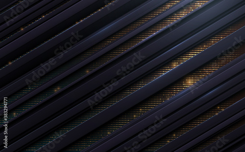 Abstract lines background with gold dots