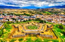 Aerial View Jaca Citadel In Hu...