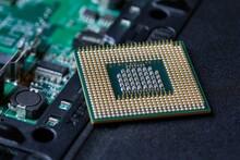 Processor Cpu Unit On A Dissasembled Laptop