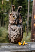 Figurine Of An Owl Carved From...