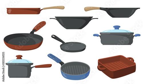 Valokuvatapetti Kitchen pots set