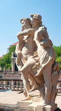 Female Sculptures At Fountain ...