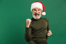 Happy Bearded Modern Santa Cla...