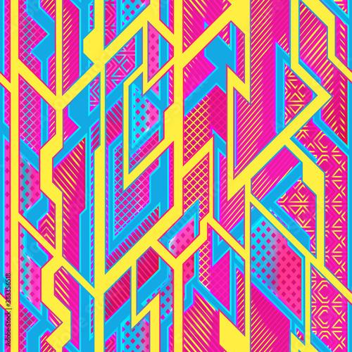 Tapety Futurystyczne  jasny-futurystyczny-wzor-geometryczny