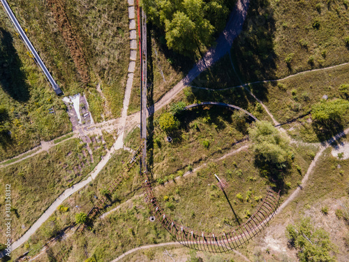 Photo Aerial view of an abandoned bobsleigh track