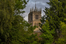 A View Across New Park Towards St Marys Church In Melton Mowbray, Leicestershire, UK In The Summertime
