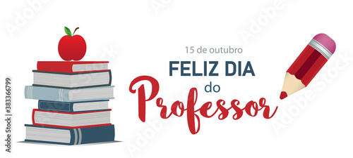 Canvastavla Happy teacher's day in Portuguese language
