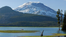 Lone Canoers On Sparks Lake Ne...