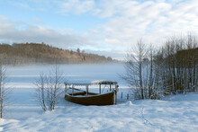 Snowy Winter Landscape With Wo...