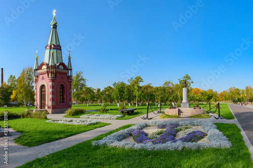 The newly opened territory of the Kronstadt dock admiralty of Emperor Peter I wi Wallpaper Mural