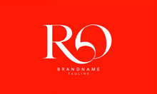Alphabet Letters Initials Monogram Logo RO, OR, R And O