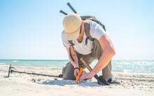 Man Digging Sand When Found So...