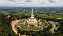 Aerial View Phra Maha Chedi Ch...