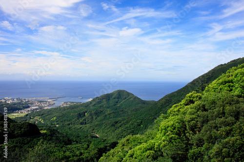 Fotomural 屋久島の山並と海