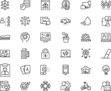 Business Vector Icon Set Such As: Set, Candidate, List, Prototype, Paying, Advertising, Webpage, Consultant, Erase, Cargo, Shiny, Tribune, Gambling, Shake, Mosaic, Play, Unit, Cooperation, Screencast